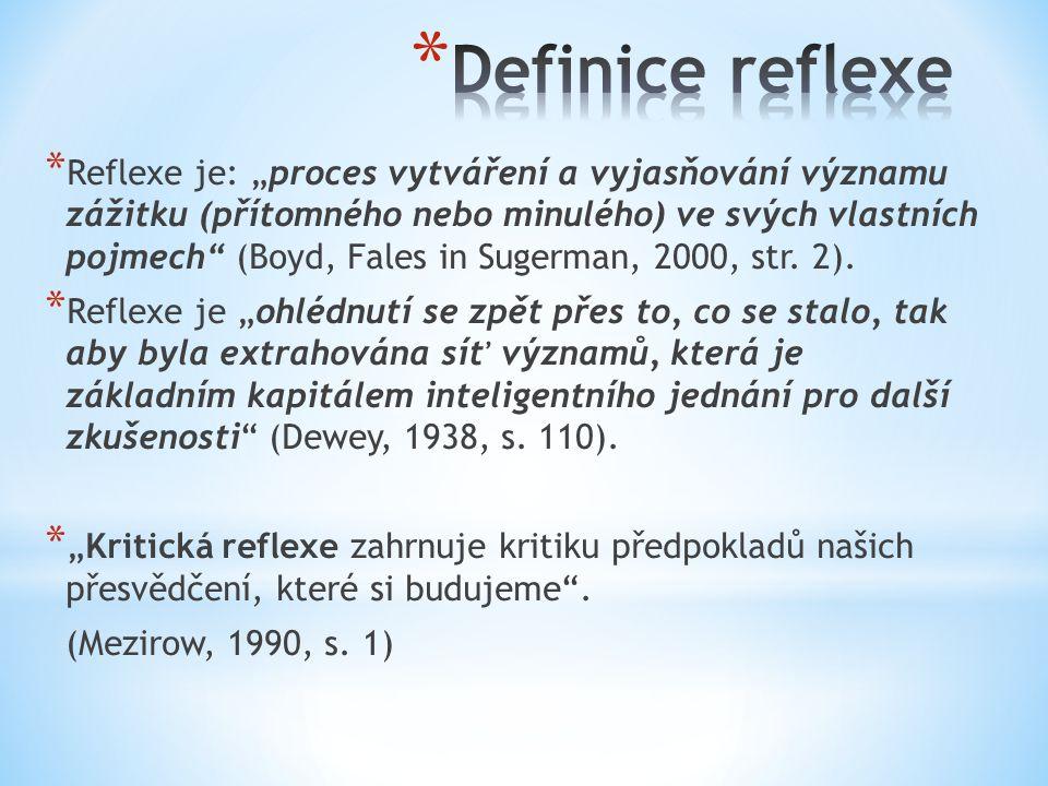 Definice reflexe