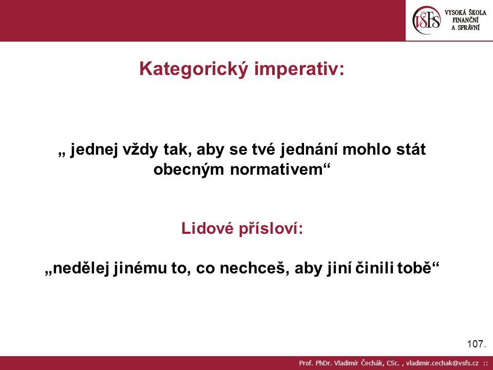 Kategorický imperativ: