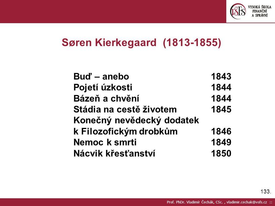 Søren Kierkegaard (1813-1855) Buď – anebo 1843 Pojetí úzkosti 1844