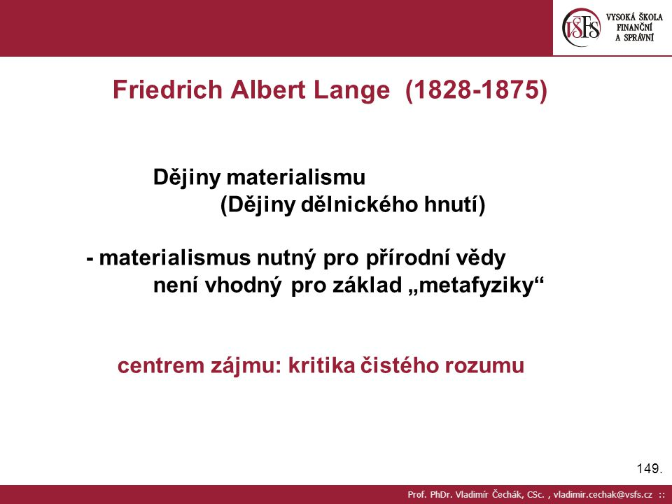 Friedrich Albert Lange (1828-1875)