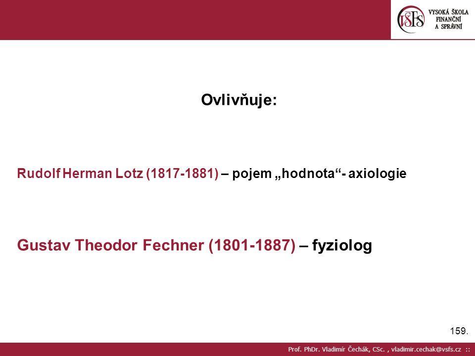 Gustav Theodor Fechner (1801-1887) – fyziolog