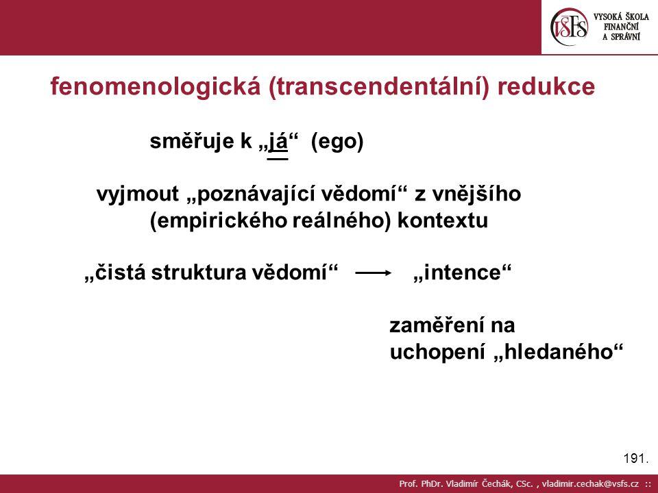 fenomenologická (transcendentální) redukce