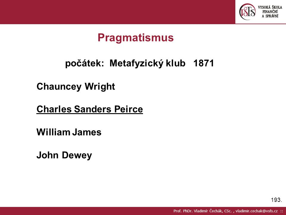 počátek: Metafyzický klub 1871