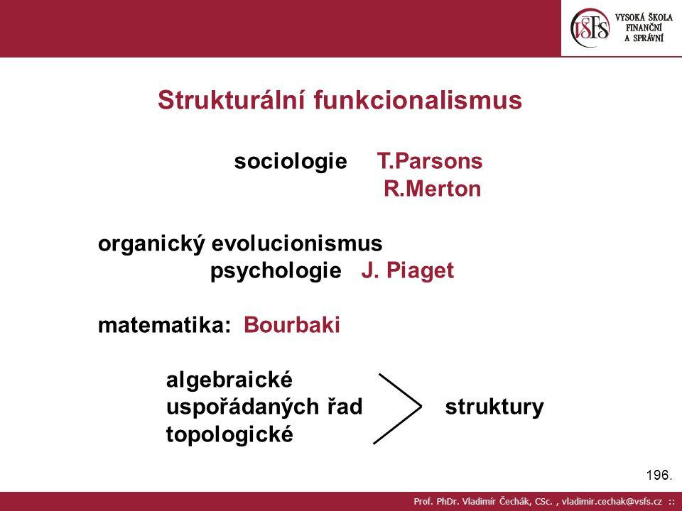 Strukturální funkcionalismus