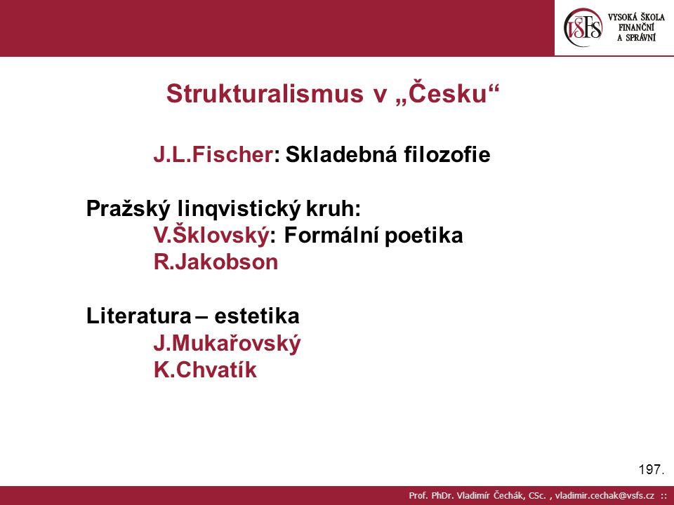 """Strukturalismus v """"Česku"""