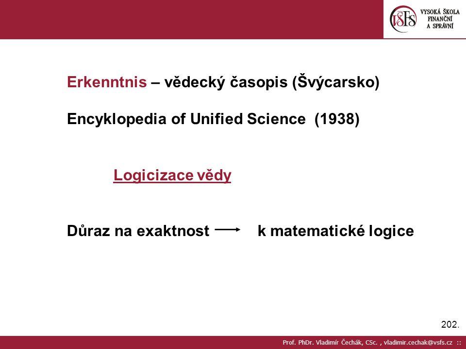 Erkenntnis – vědecký časopis (Švýcarsko)