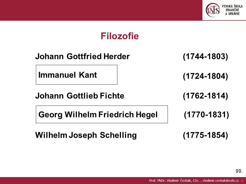 Filozofie Johann Gottfried Herder (1744-1803) (1724-1804)