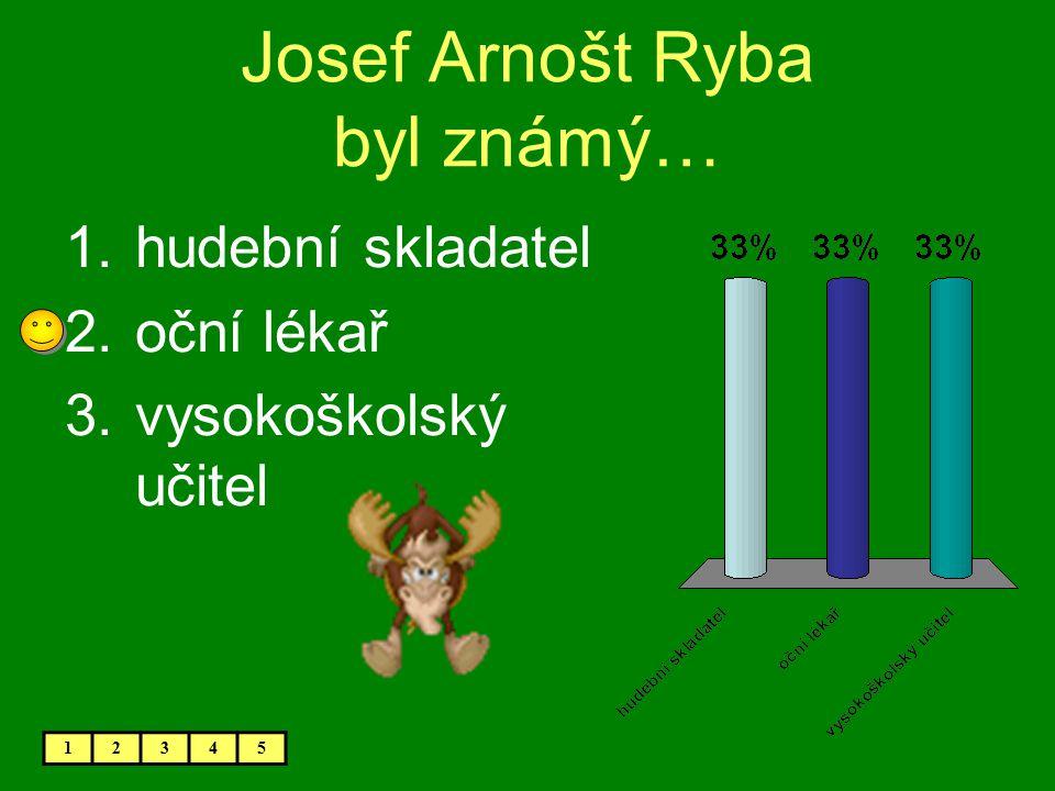 Josef Arnošt Ryba byl známý…