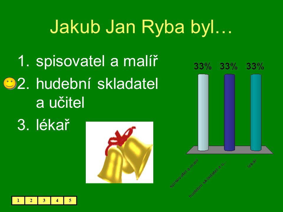 Jakub Jan Ryba byl… spisovatel a malíř hudební skladatel a učitel