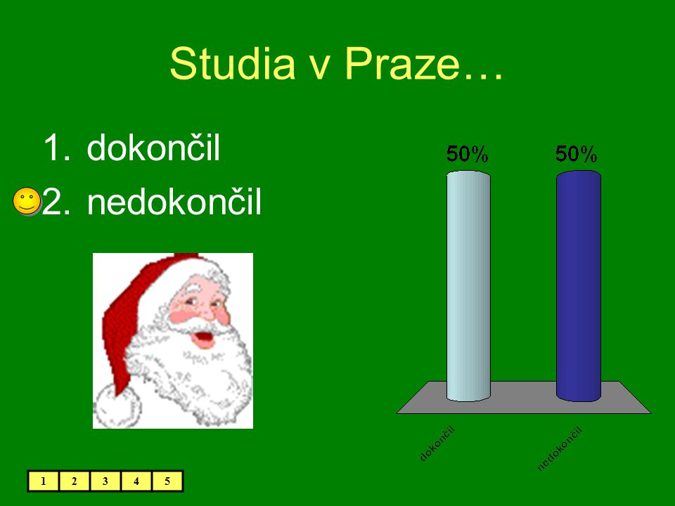 Studia v Praze… dokončil nedokončil 1 2 3 4 5