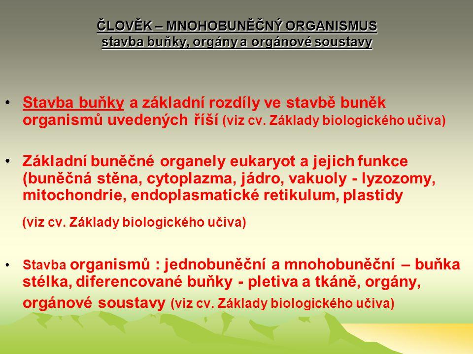 (viz cv. Základy biologického učiva)