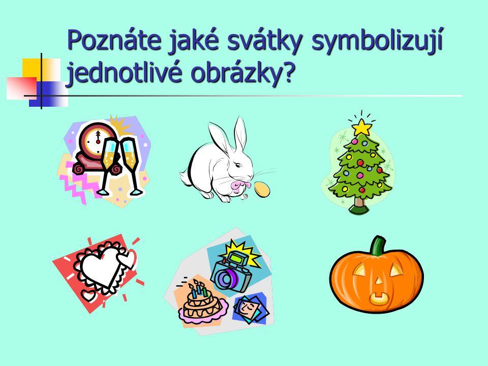 Poznáte jaké svátky symbolizují jednotlivé obrázky