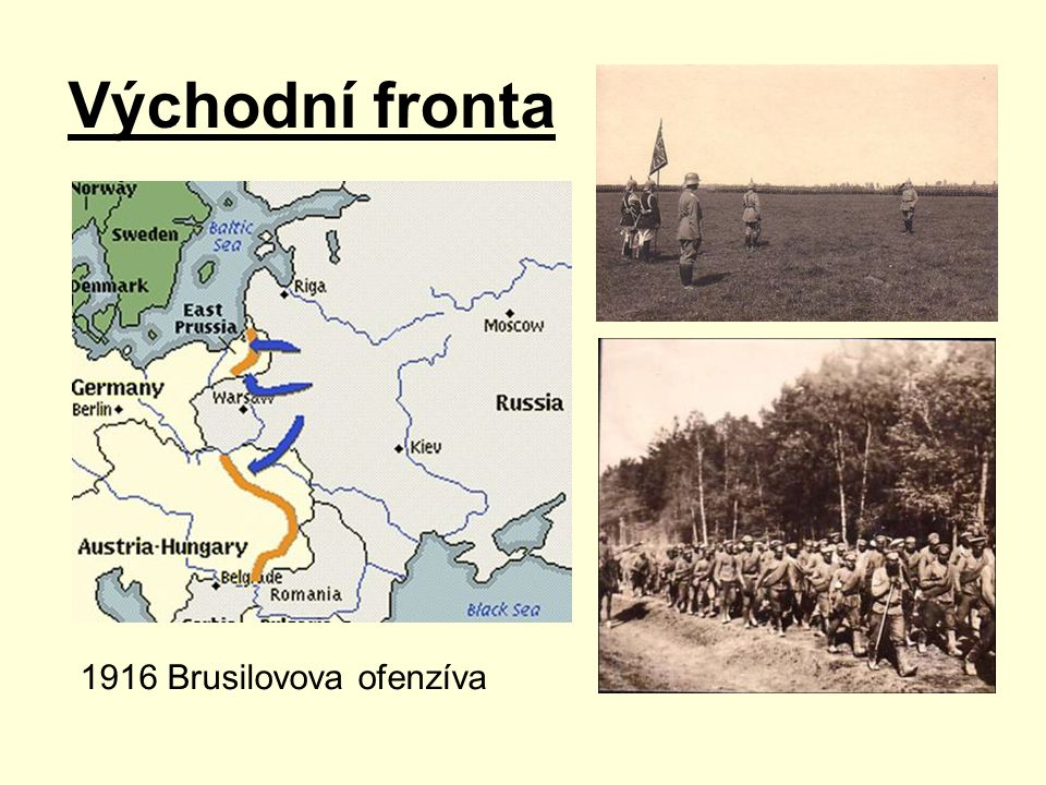 Východní fronta 1916 Brusilovova ofenzíva