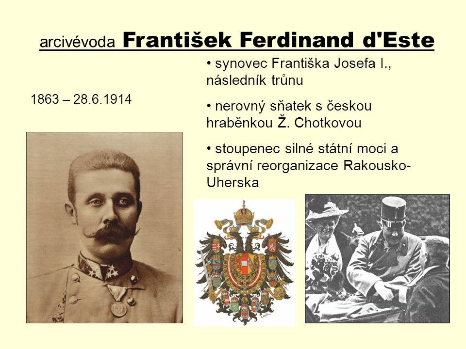 arcivévoda František Ferdinand d Este