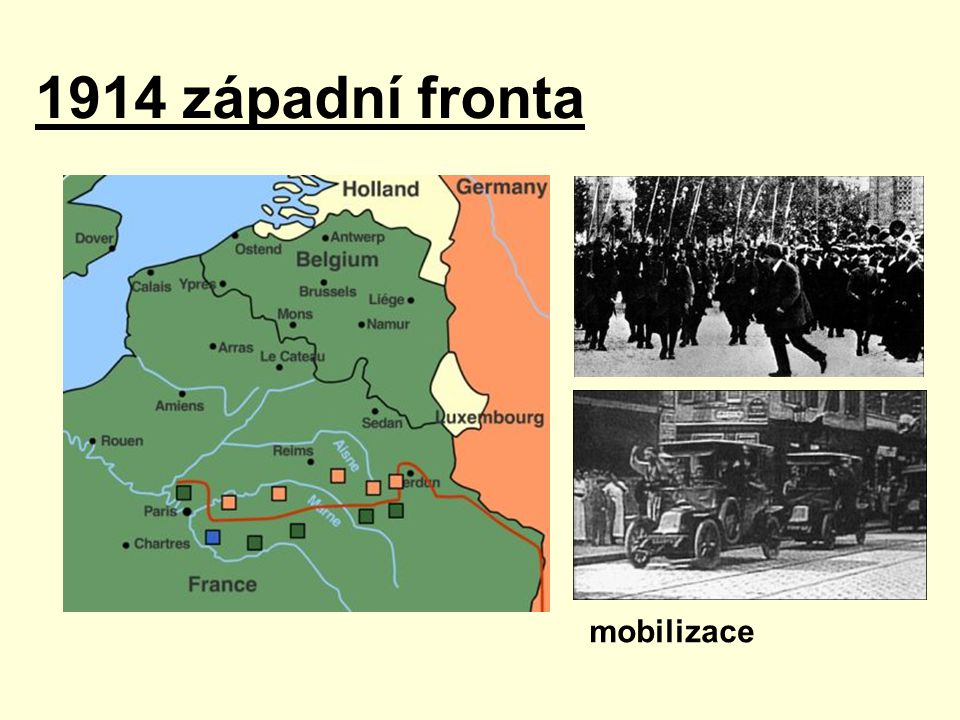 1914 západní fronta mobilizace