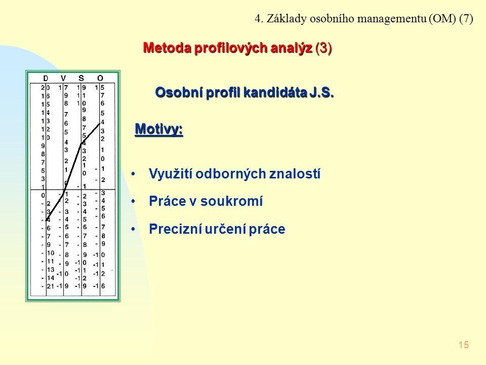 Metoda profilových analýz (3)