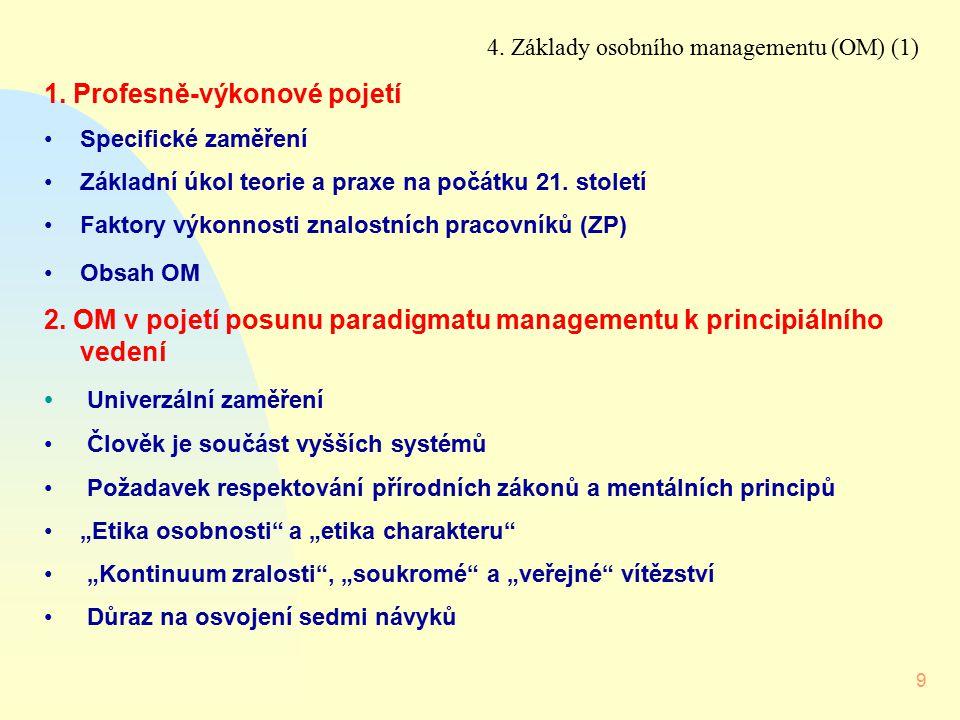 1. Profesně-výkonové pojetí