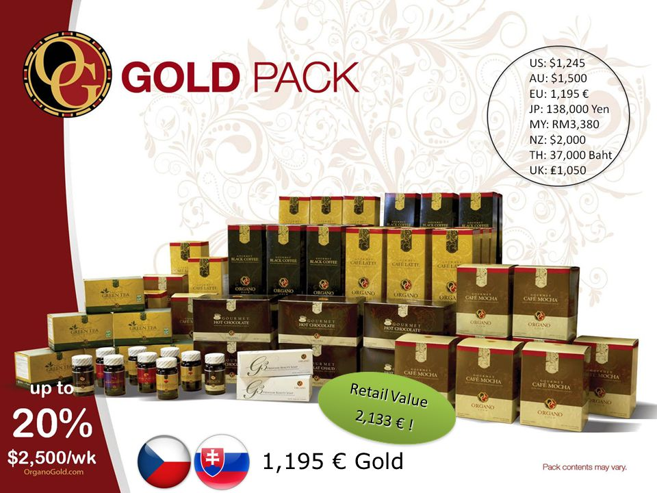 Retail Value 2,133 € ! 1,195 € Gold