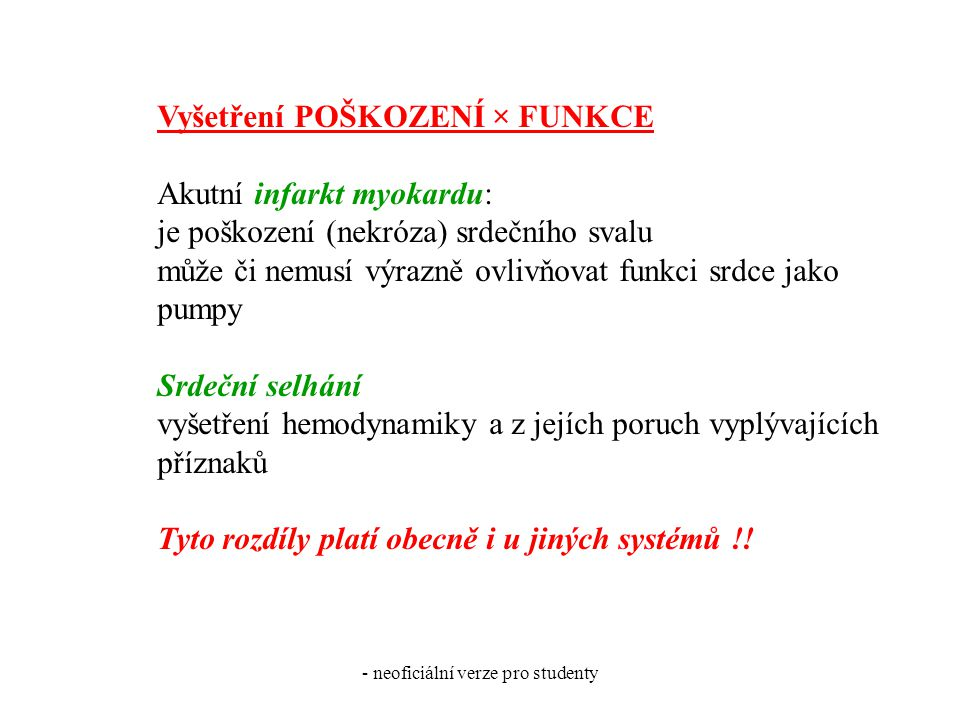 - neoficiální verze pro studenty