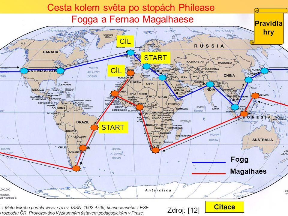 Cesta kolem světa po stopách Philease Fogga a Fernao Magalhaese