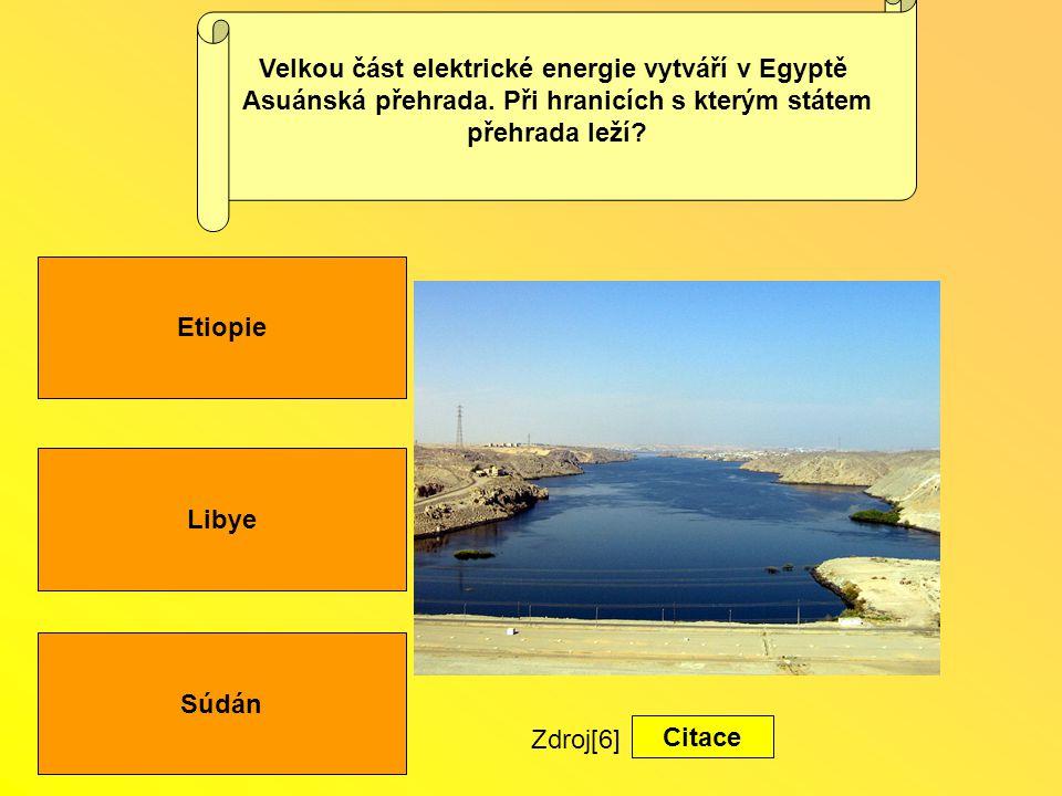 Velkou část elektrické energie vytváří v Egyptě