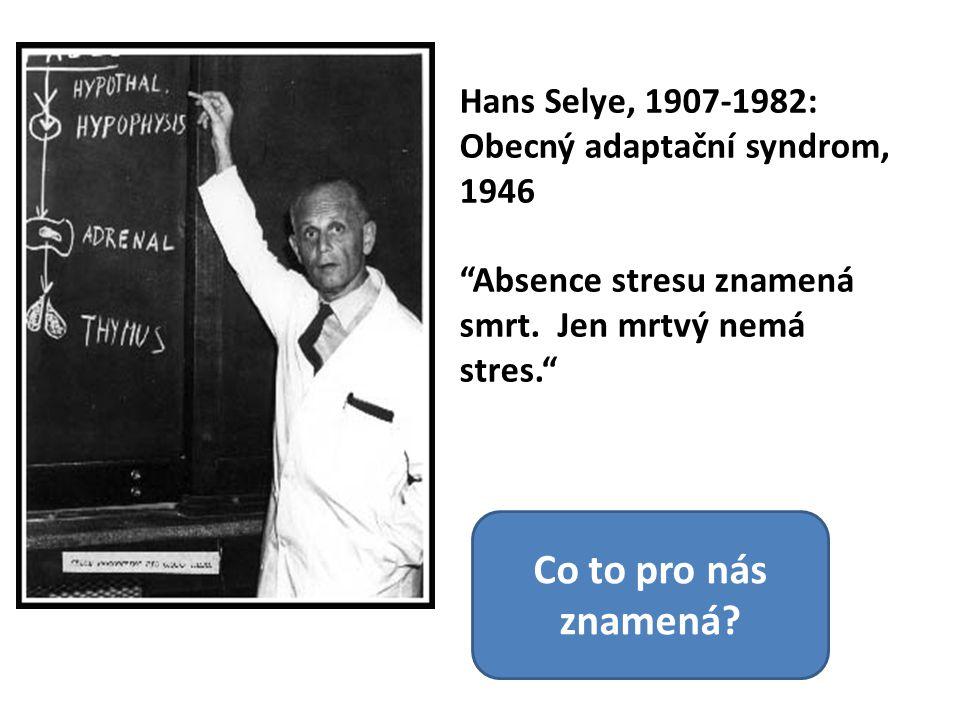 Co to pro nás znamená Hans Selye, 1907-1982: