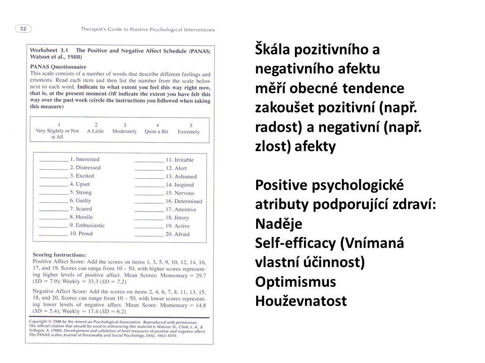 Škála pozitivního a negativního afektu