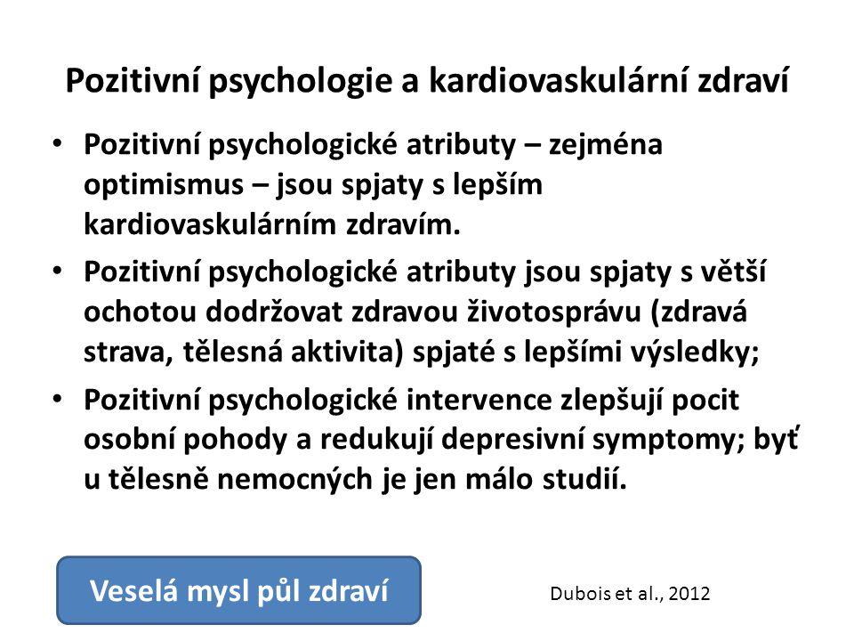 Pozitivní psychologie a kardiovaskulární zdraví