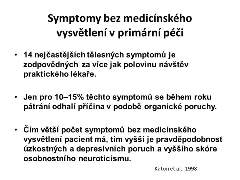 Symptomy bez medicínského vysvětlení v primární péči