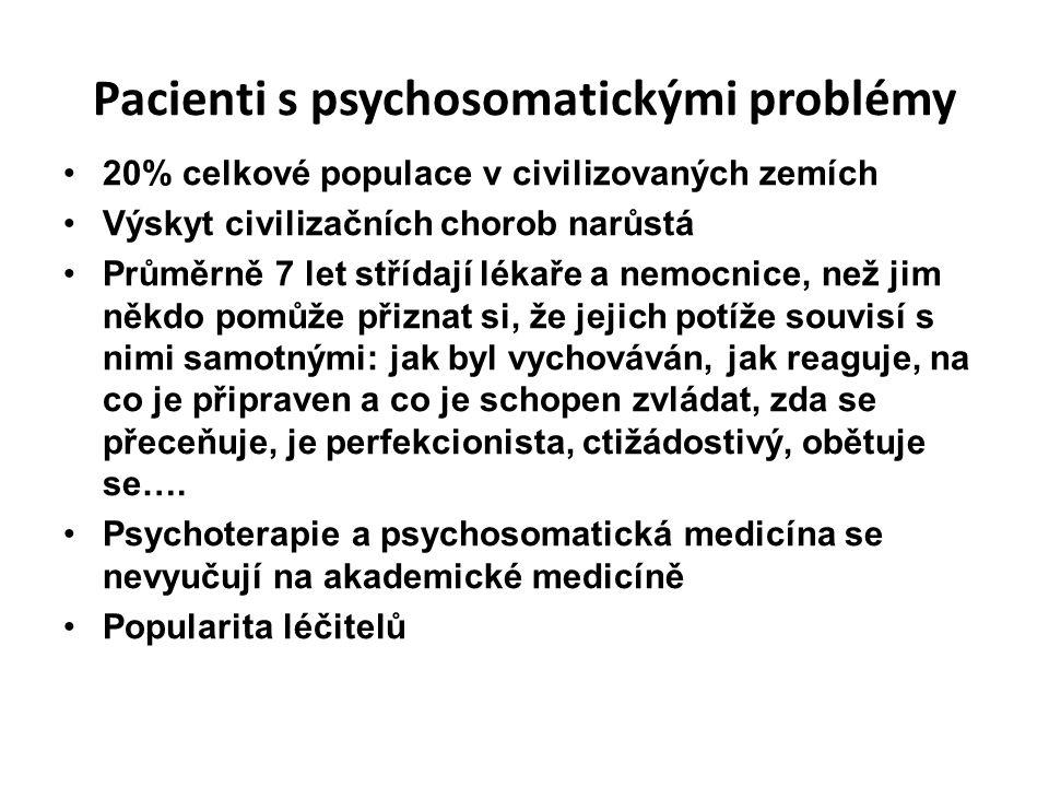Pacienti s psychosomatickými problémy