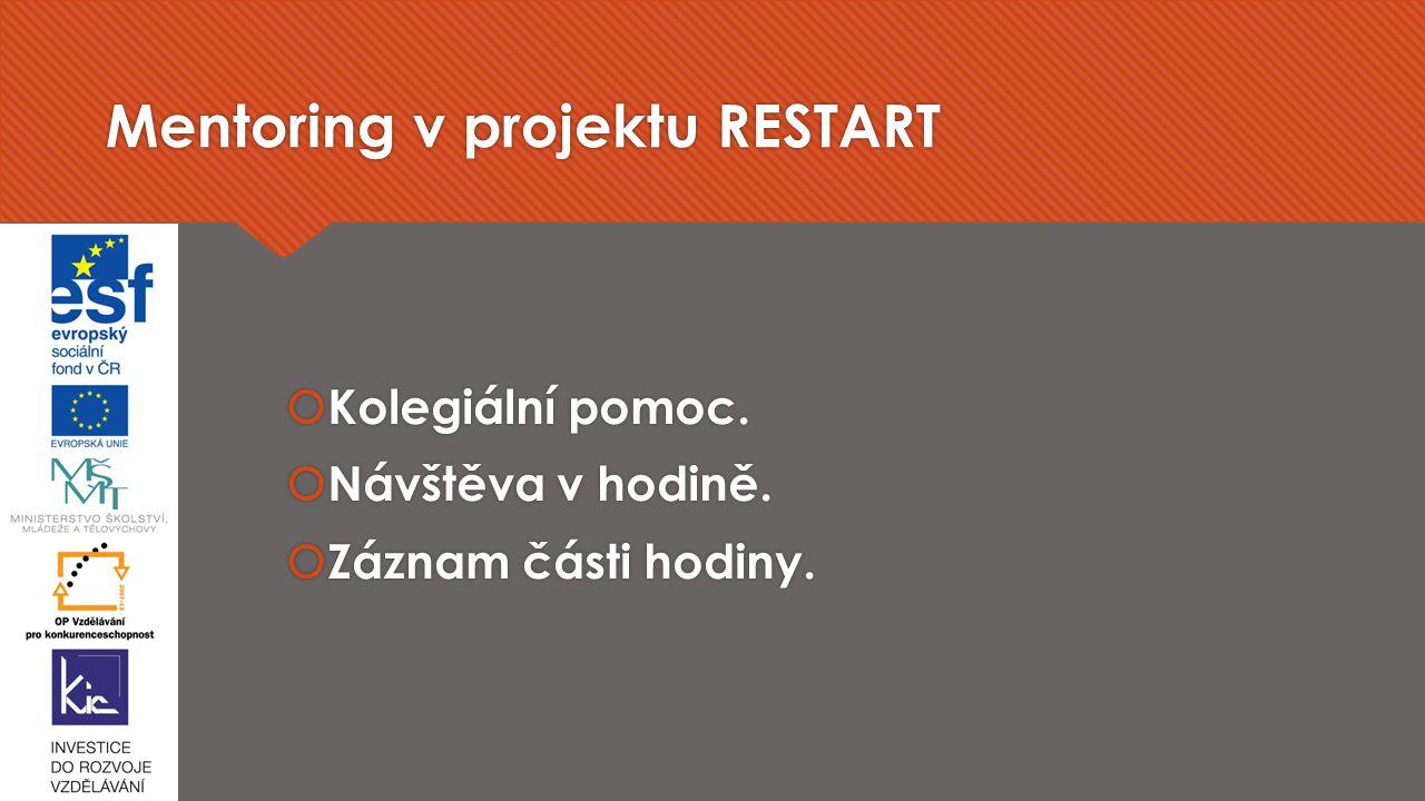 Mentoring v projektu RESTART