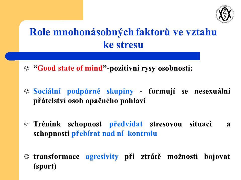 Role mnohonásobných faktorů ve vztahu