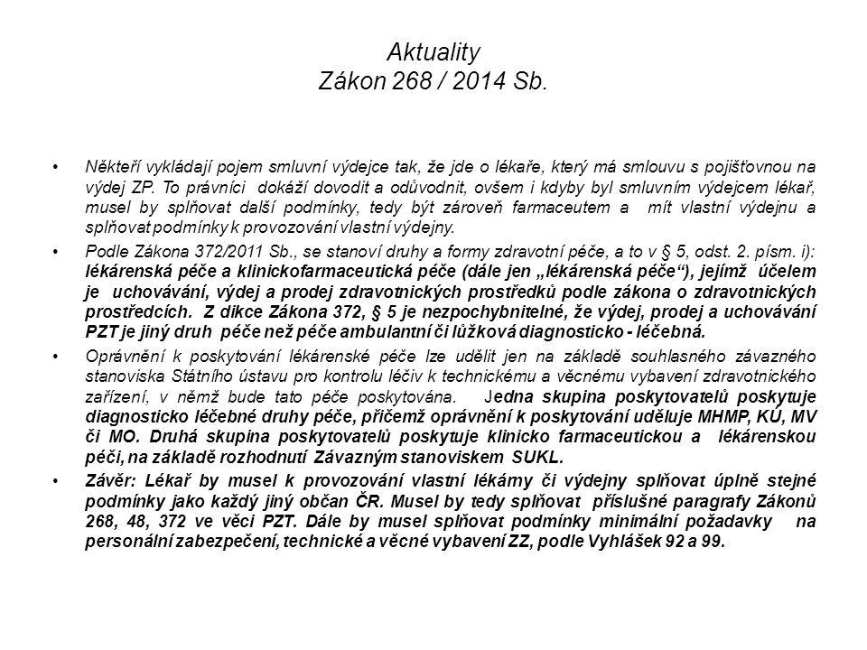 Aktuality Zákon 268 / 2014 Sb.