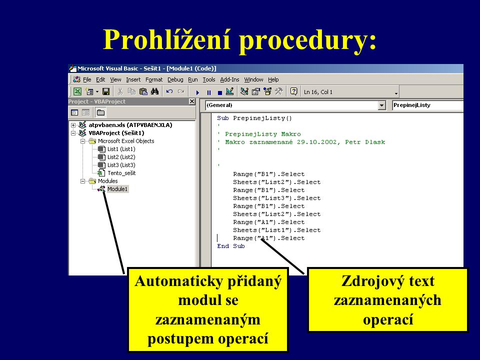 Prohlížení procedury: