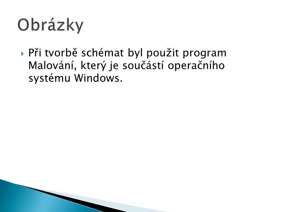 Obrázky Při tvorbě schémat byl použit program Malování, který je součástí operačního systému Windows.