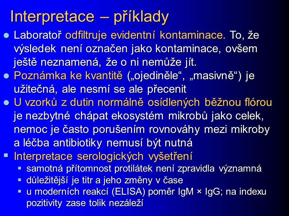 Interpretace – příklady