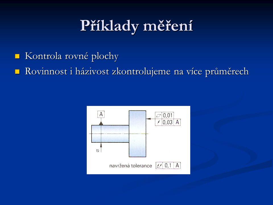 Příklady měření Kontrola rovné plochy