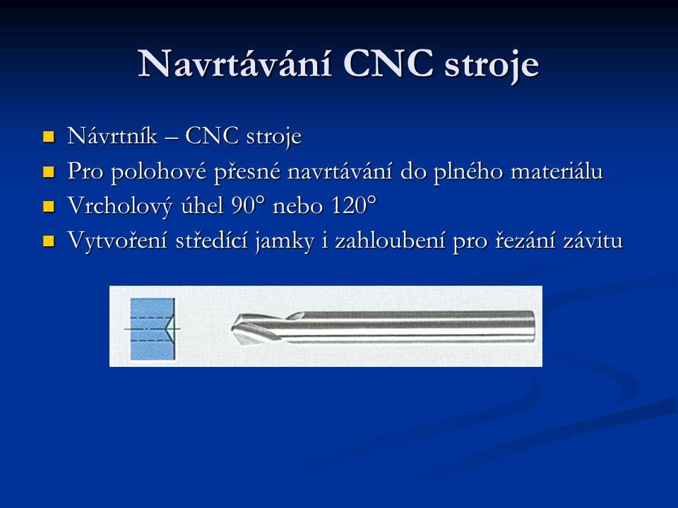 Navrtávání CNC stroje Návrtník – CNC stroje