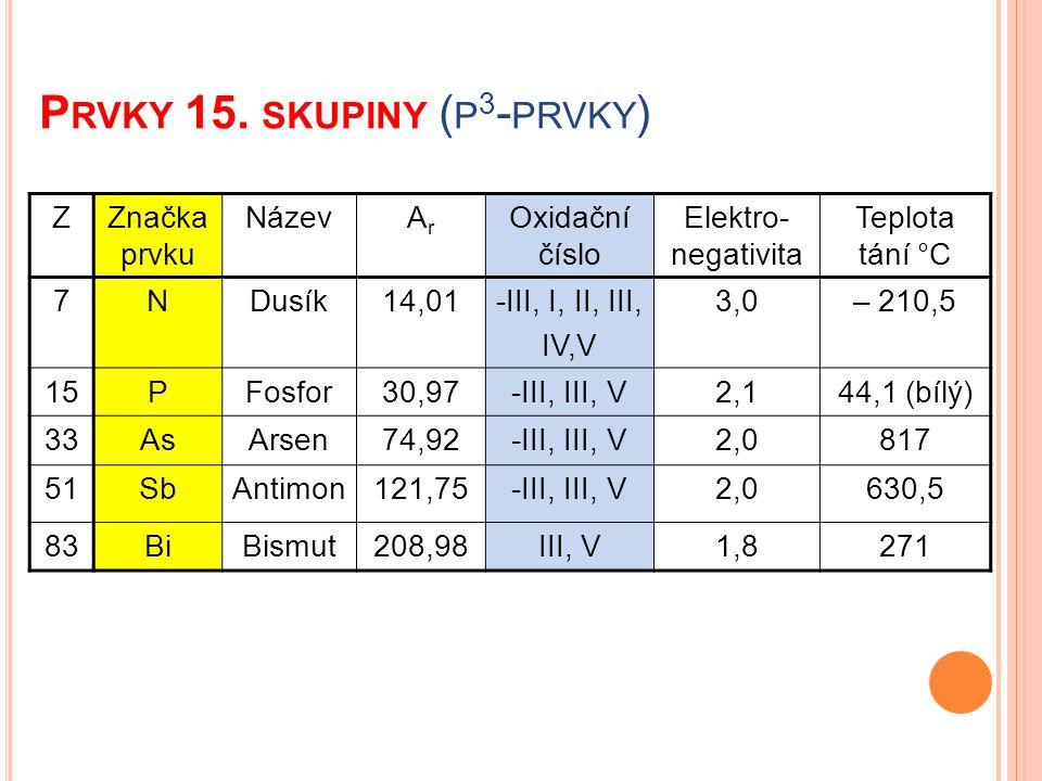 Prvky 15. skupiny (p3-prvky)