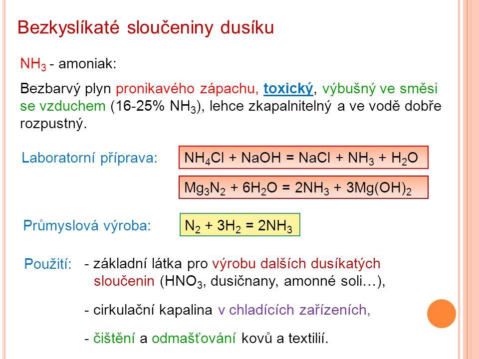 Bezkyslíkaté sloučeniny dusíku