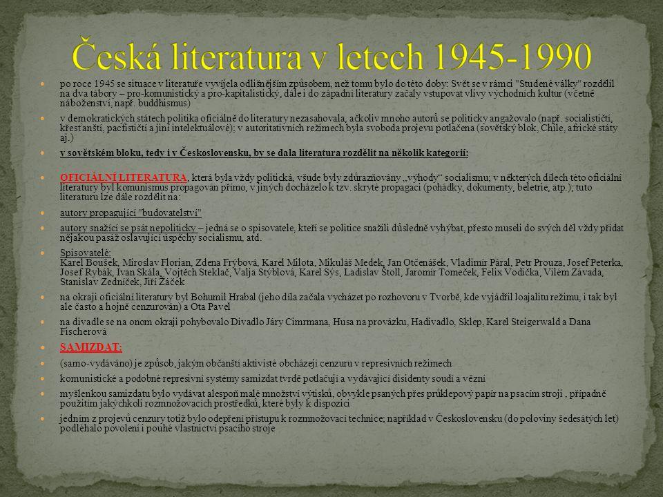 Česká literatura v letech 1945-1990