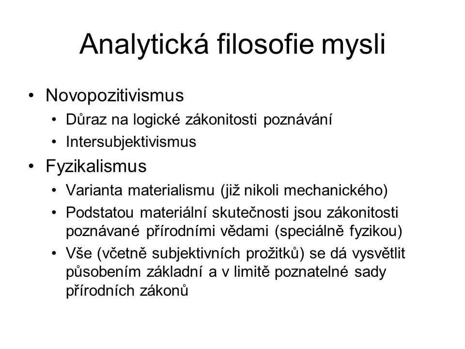 Analytická filosofie mysli