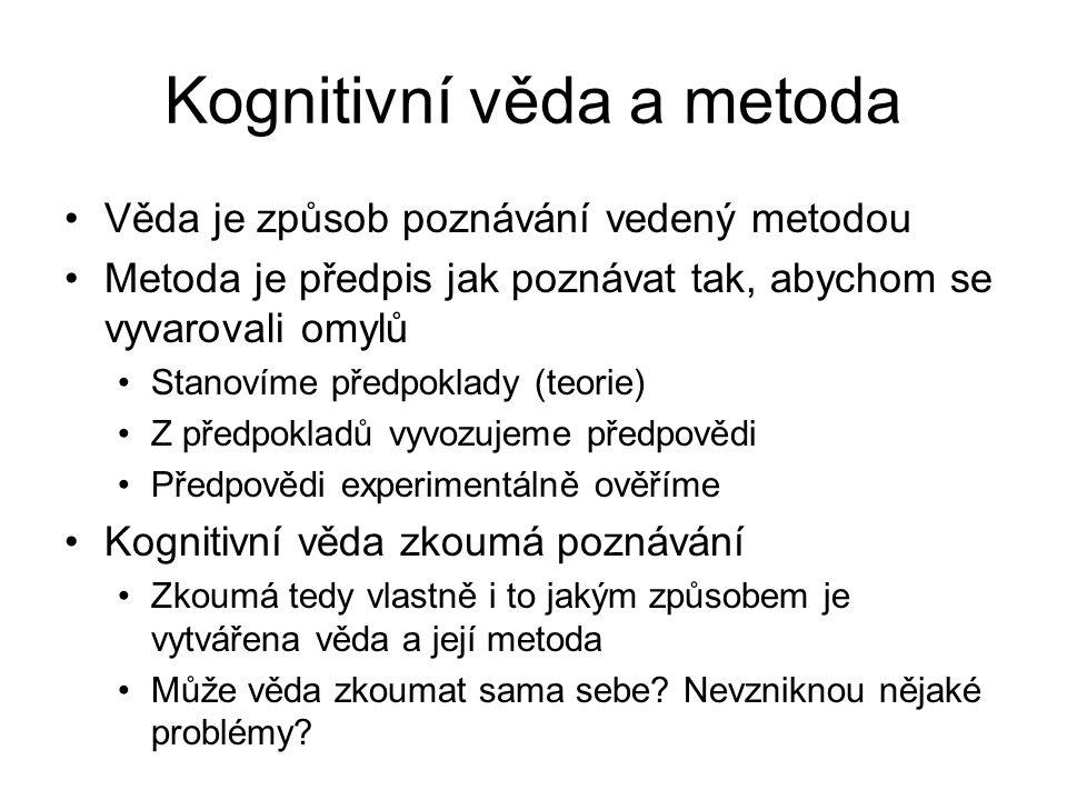 Kognitivní věda a metoda