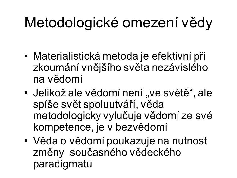 Metodologické omezení vědy