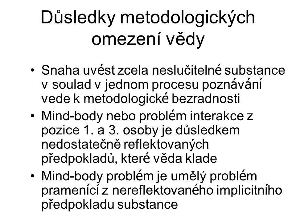 Důsledky metodologických omezení vědy