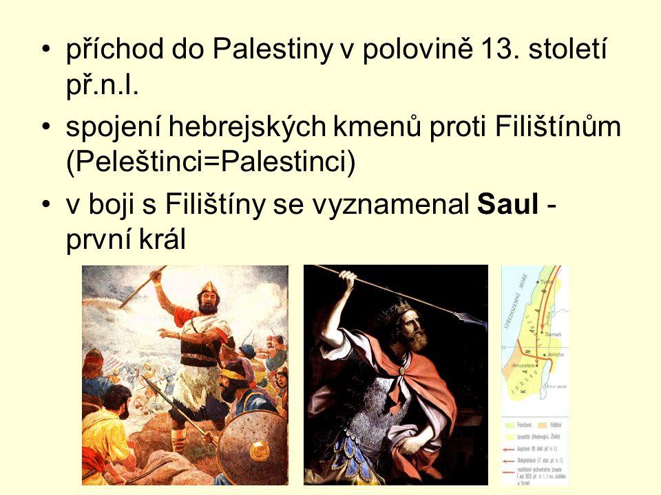 příchod do Palestiny v polovině 13. století př.n.l.