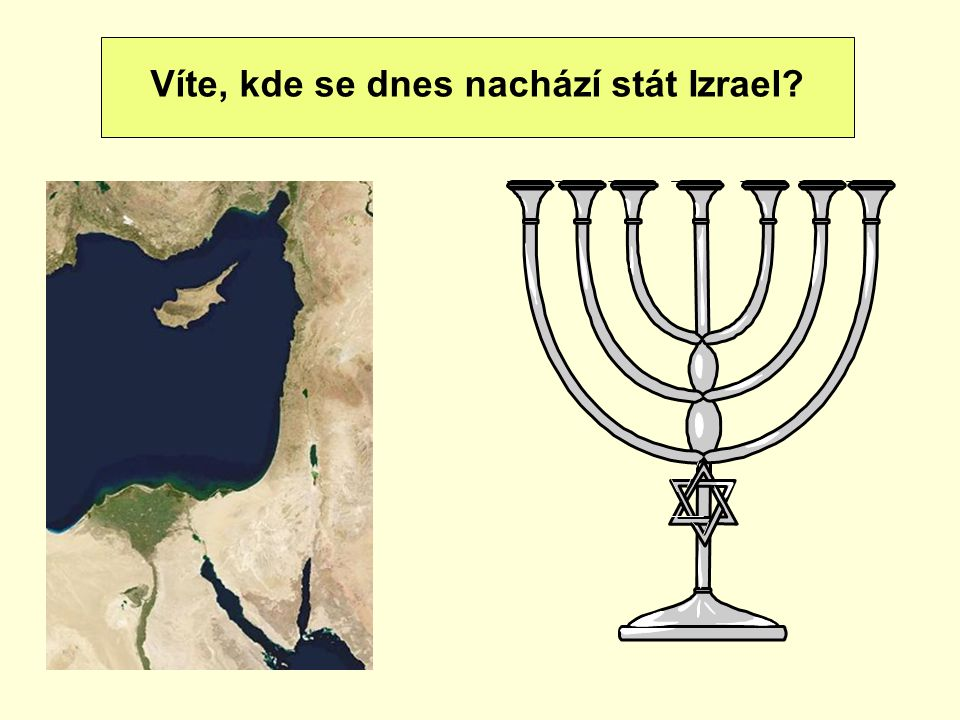 Víte, kde se dnes nachází stát Izrael