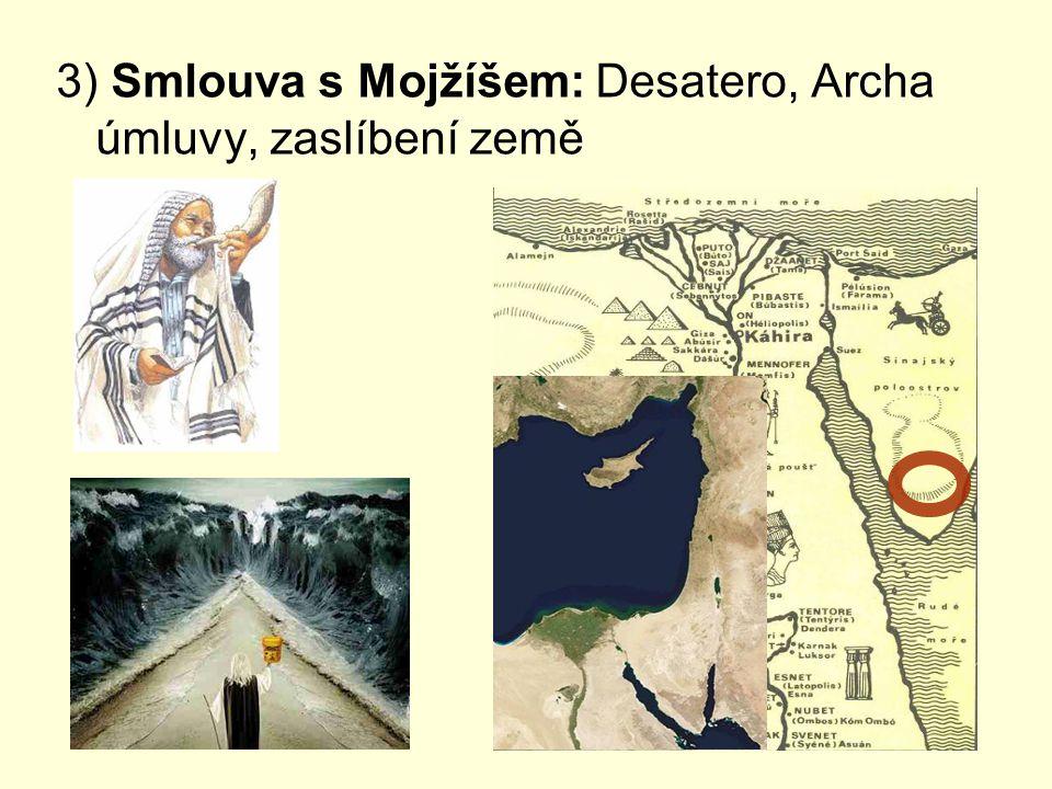3) Smlouva s Mojžíšem: Desatero, Archa úmluvy, zaslíbení země