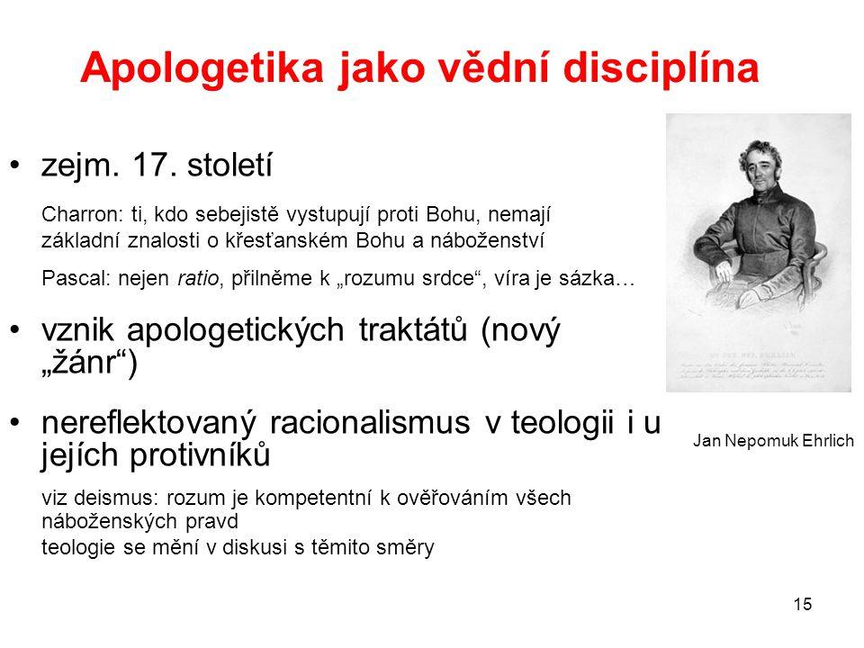 Apologetika jako vědní disciplína