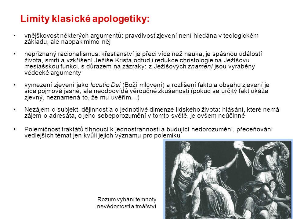 Limity klasické apologetiky: